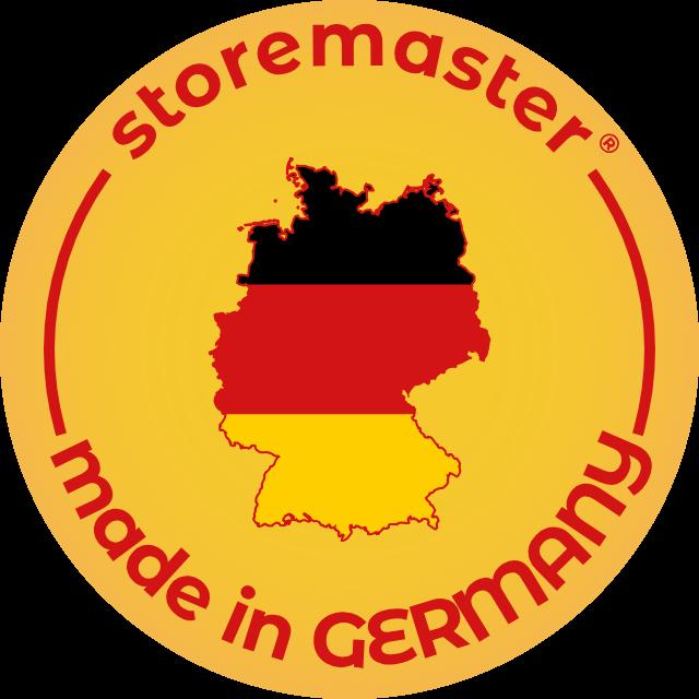 storemaster Regalsysteme und Lagertechnik - zu 100% in Deutschland hergestellt.