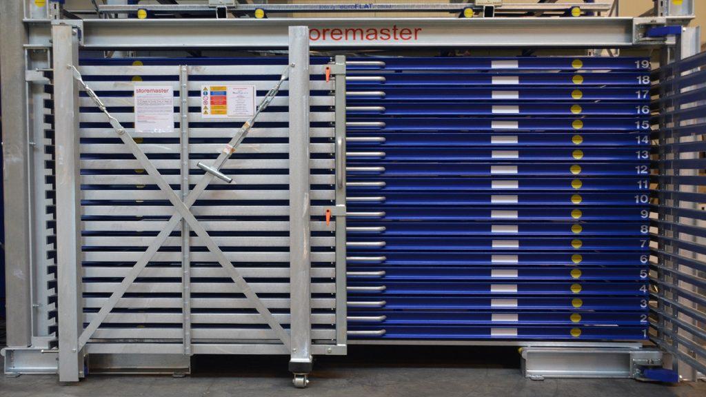 Lagertechnik: Blechlager Schubladenregal