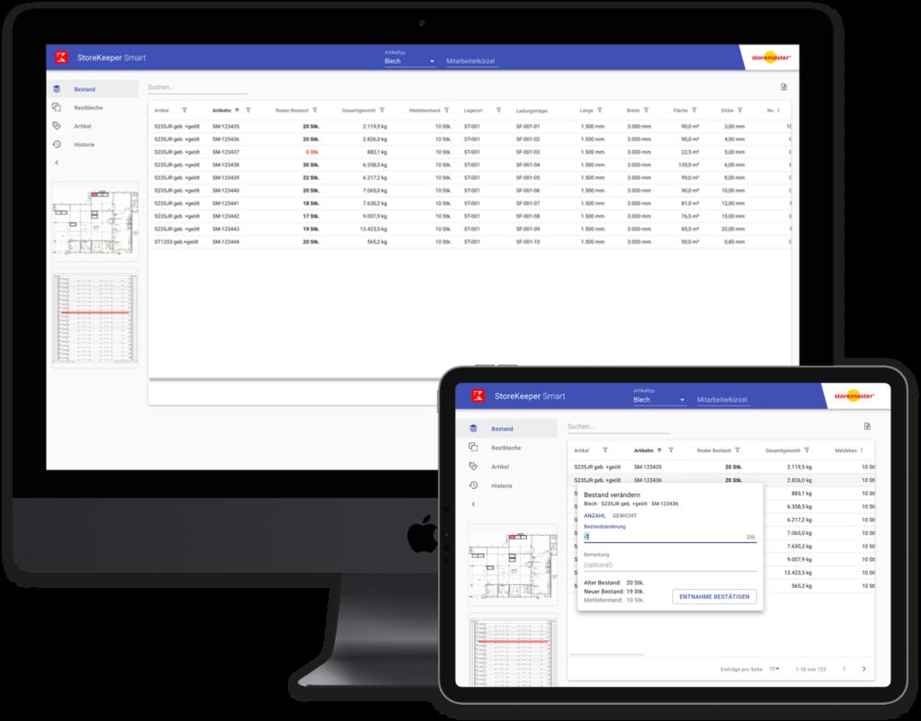 SmartKeeper App Desktop View