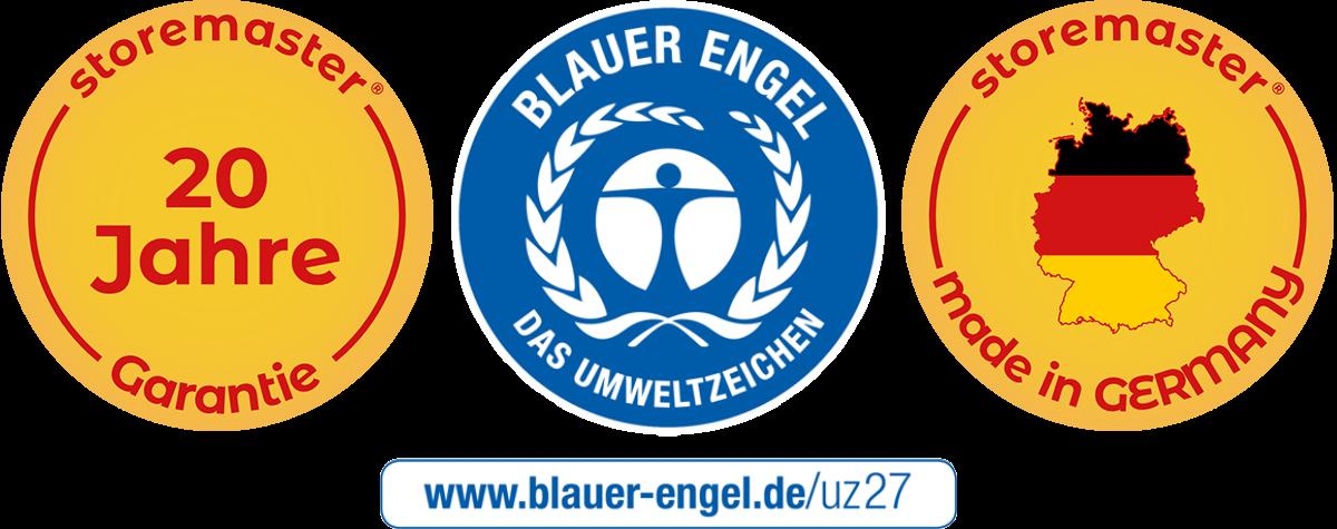 20 Jahre Garantie - Hergestellt in Deutschland